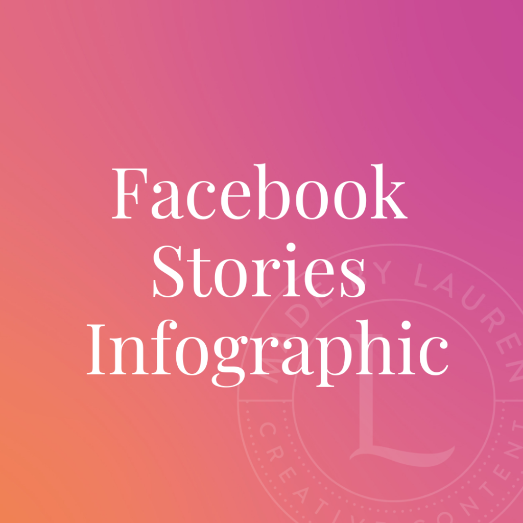 Facebook stories infographic