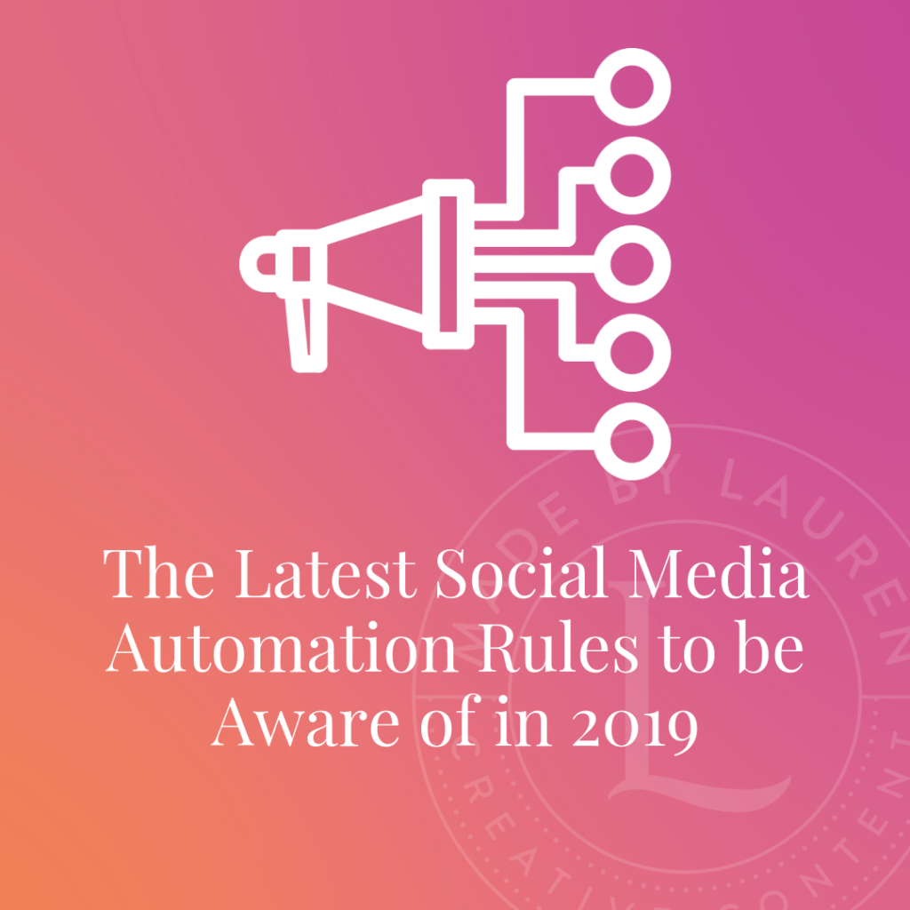 Social media automation rules